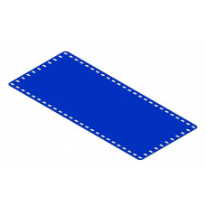 Flexible plate, 11 x 25, with short slots