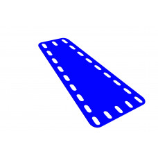 Flexible plate, trapezoidal, 3 and 5 holes wide, 9 long