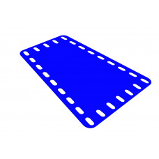 Flexible plate, trapezoidal, 5 and 7 holes wide, 9 long