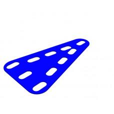 Flexible plate, triangular, symmetrical, 3 x 5 holes wide