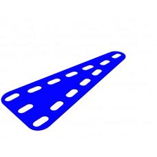 Flexible plate, triangular, symmetrical, 3 x 7 holes wide