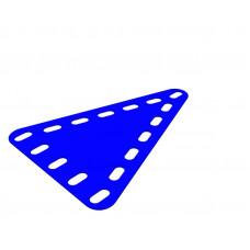 Flexible plate, triangular, symmetrical, 5 x 7 holes wide