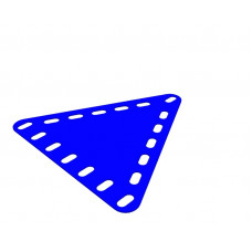 Flexible plate, triangular, symmetrical, 7 x 7 holes wide
