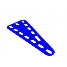 Flexible plate, rectangular, 3 x 7 holes wide