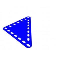 Flexible plate, rectangular, 7 x 7 holes wide