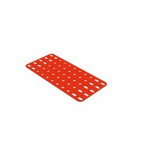 Flat rectangular plate, 5 x 11 holes