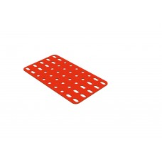 Flat rectangular plate, 5 x 9 holes