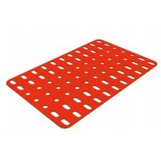 Flat rectangular plate, 7 x 11 holes