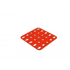 Flat rectangular plate, 5 x 5 holes