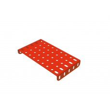 Flanged rectangular plate, 5 x 11 holes