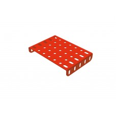 Flanged rectangular plate, 5 x 9 holes
