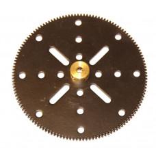 Gear 133t; 38DPI; 2.10mm flank; 2 x M4 threads