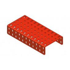 2mm-flanged plate, 5 x 11 holes
