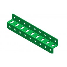 Z-section angle girder, 9 holes