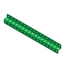 Z-section angle girder, 17 holes